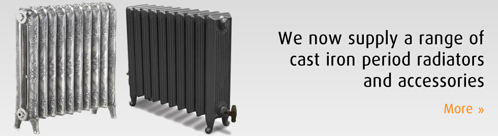 We now supply a range of cast iron period radiators and accessories