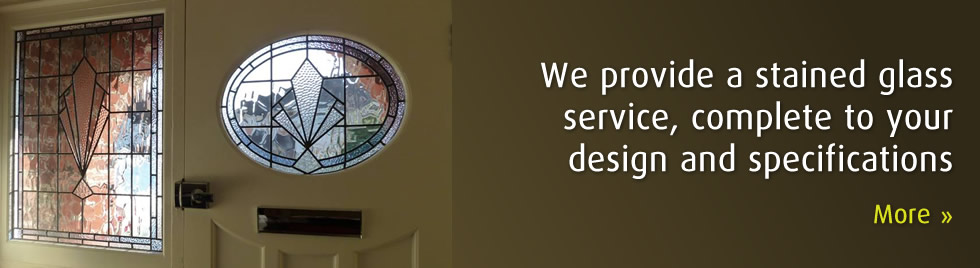 We provide a stained glass service, complete to your design and specifications