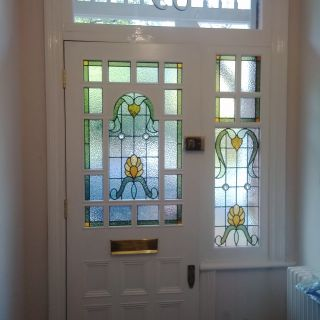 Example of completed door with glass