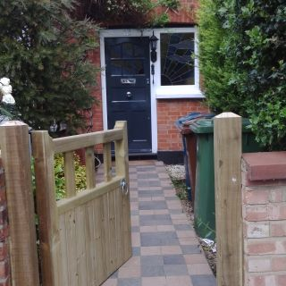 Before and After, Front Door, Leaded Glass and Gate
