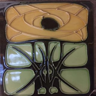 Art Deco tube lined tile set