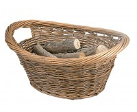 The Cradel Log and Kindling Baskets - Wicker