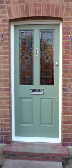 Example of fitted and completed door