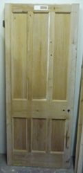 Reclaimed 6 panel door 857 x 2051