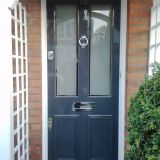 Example of a Victorian front door with etched glass