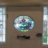 Example of Oval Design Stained Glass