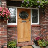 Example of 1920's front door in Oak