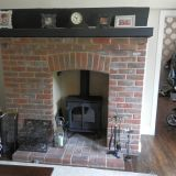 Example of a completed stove